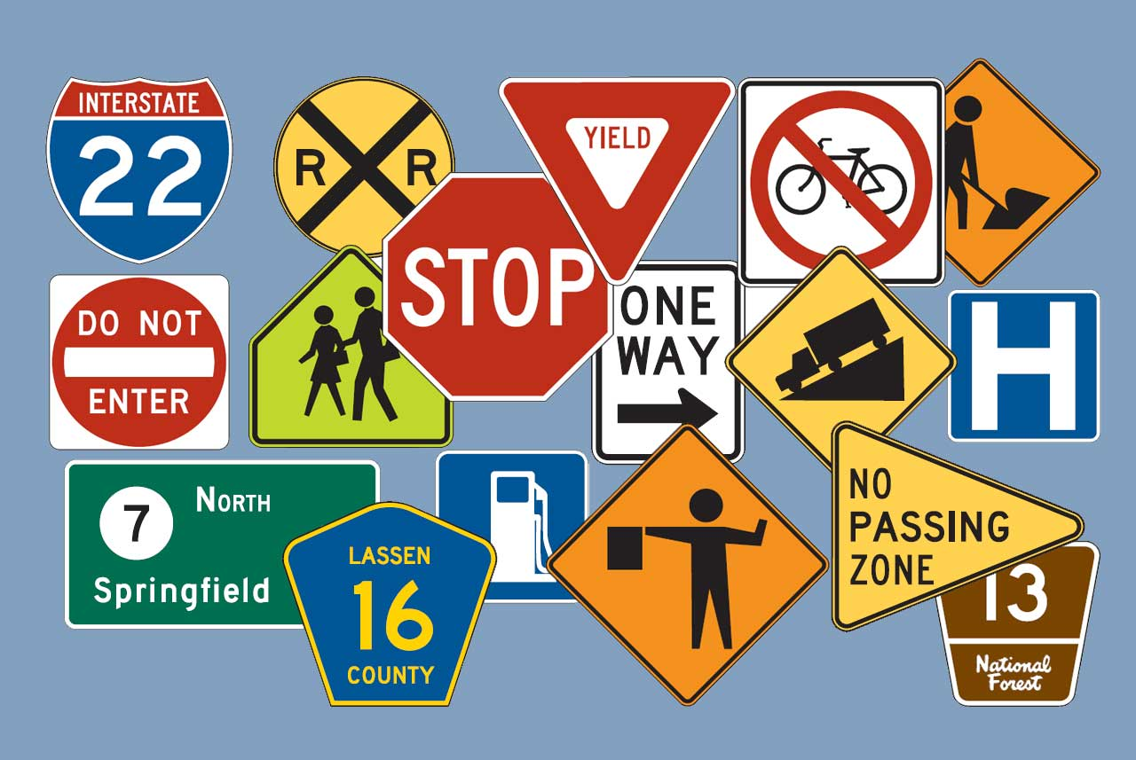 Shapes and colors of traffic signs free dmv test buycottarizona Image collections