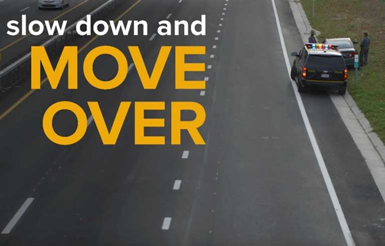 Slow down and Move over - Copyright: thruway.ny.gov
