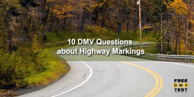 10 DMV Questions about Road Markings