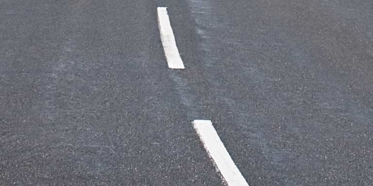 Highway Markings - Broken White Lines