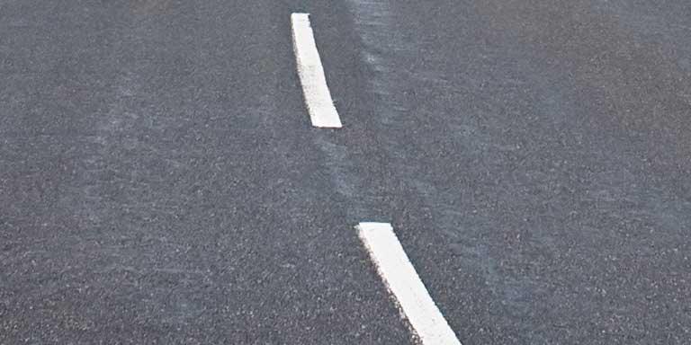 Highway Markings - Broken White Lines