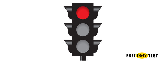 Solid Red Traffic Signal - Free DMV Test