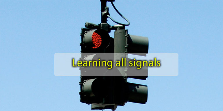 Free DMV test questions about Highway Traffic Signals