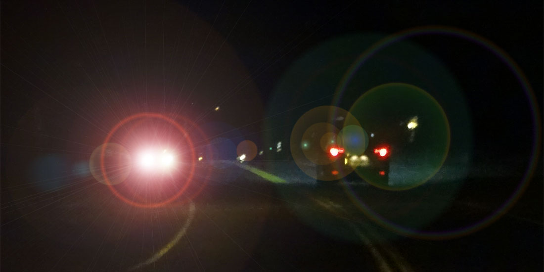 DMV Test: How to Avoid Glare From Headlights