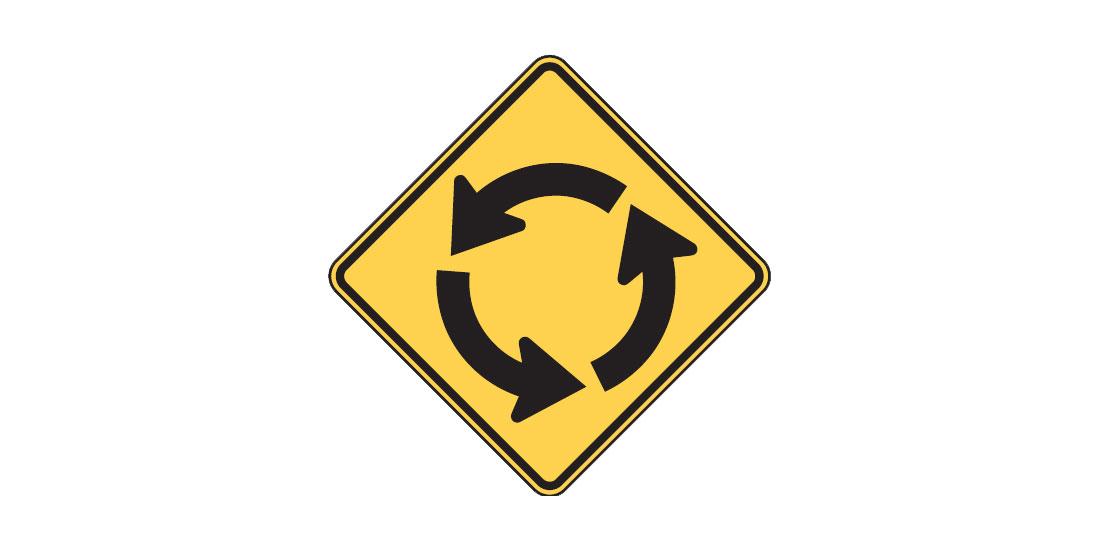 Intersection sign - FreeDMVTest.org